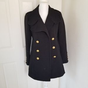 Forever 21 Black Pea Coat Jacket